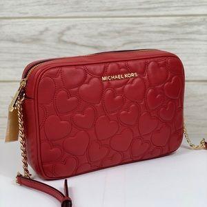❤️Michael Kors LG EW Crossbody Bag Scarlet